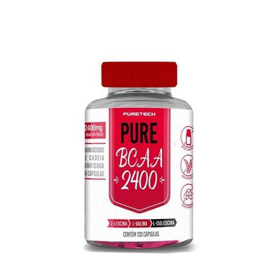 Bcaa Pure 2400 120 Cáps   Puretech -