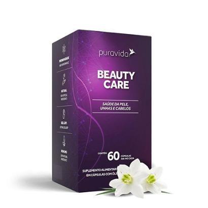 Beauty Care Hair Nail Skin Pele Unha e Cabelos 60 cáps Puravida - Unissex
