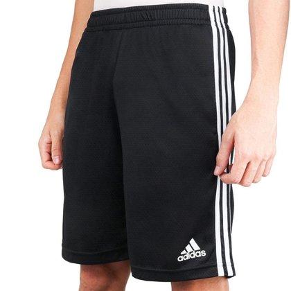 Bermuda Adidas 3S Essentials Masculina - Preto+Branco - 2GG