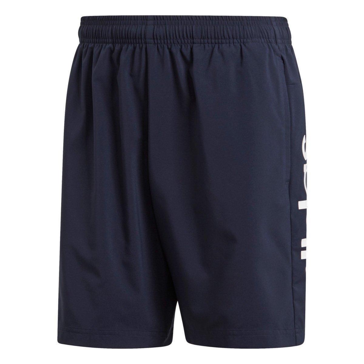 e104754033 Bermuda Adidas Essentials Linear Chelsea Masculina - Marinho e ...