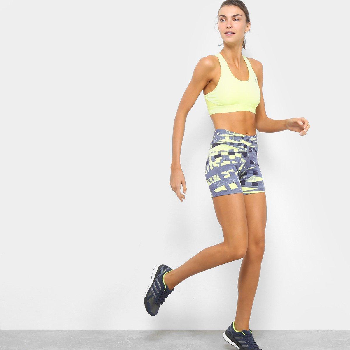 Adidas TechFit Amarelo Preto Adidas Bermuda Feminina Bermuda e Estampada xPFEPIUw
