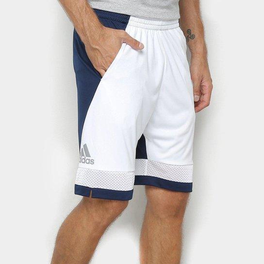 Bermuda Adidas Pro Bounce Masculina - Branco+Marinho