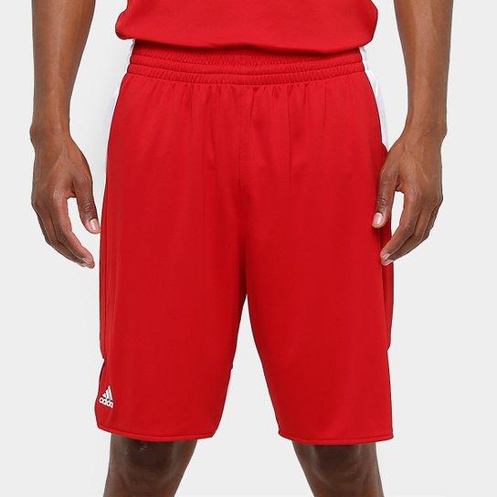 Bermuda Adidas Teamstock Masculina - Vermelho