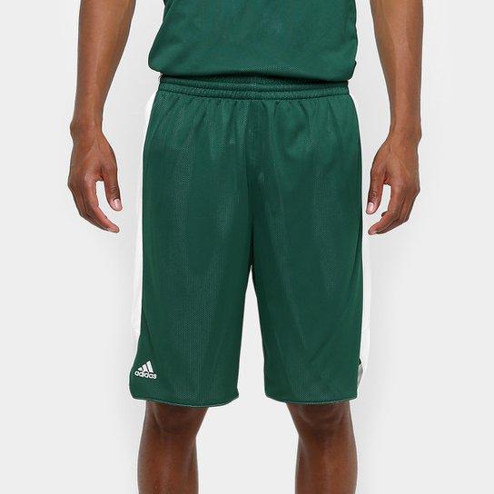 Bermuda Adidas Treino Dupla Face Masculina - Verde escuro