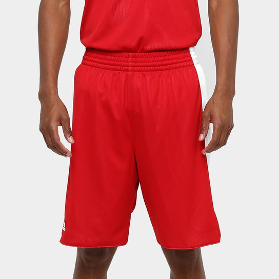 Bermuda Adidas Treino Dupla Face Masculina - Vermelho