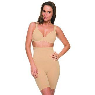 Bermuda Alta Hanes Shapewear c/ Silicone 8405 Nude - G