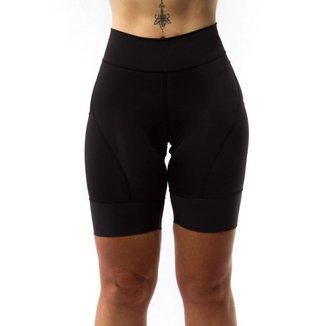Bermuda Ciclismo Feminina Gel Compressão Proteção UV 50+
