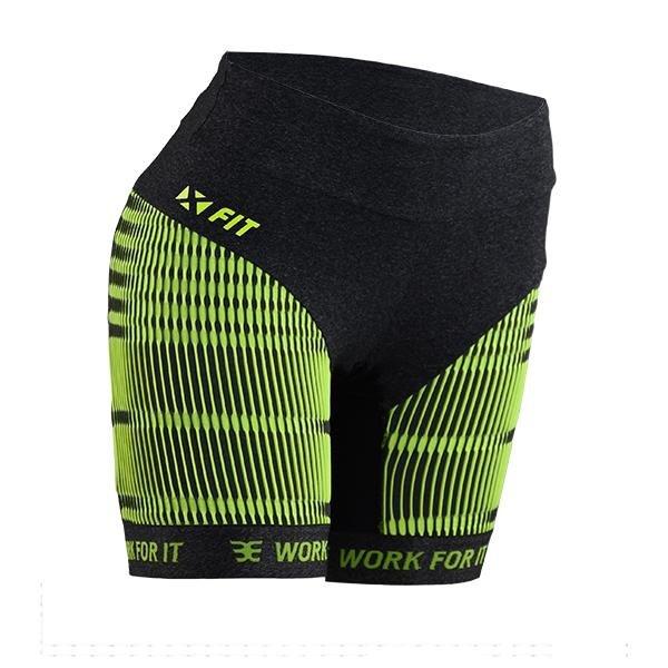 Compressão Feminina Woom de e X Bermuda Preto Fit verde UwqFnf