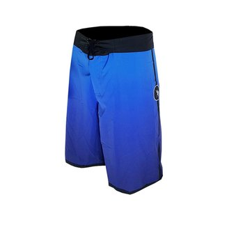 Bermuda de Elastano Degrade Azul com cadarço