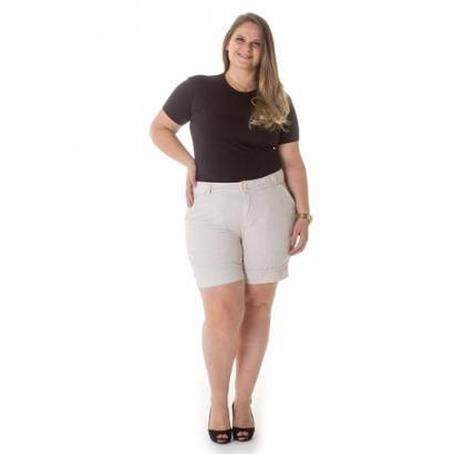 Bermuda Feminina Casual de Alfaiataria Plus Size