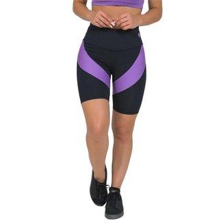 Bermuda Feminina Fitness Suplex Elegance Preto