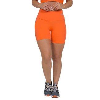 Bermuda Feminina Fitness Suplex Lisa Laranja