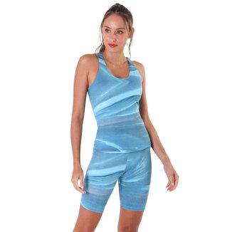 Bermuda Feminina Pedra - Azul - M