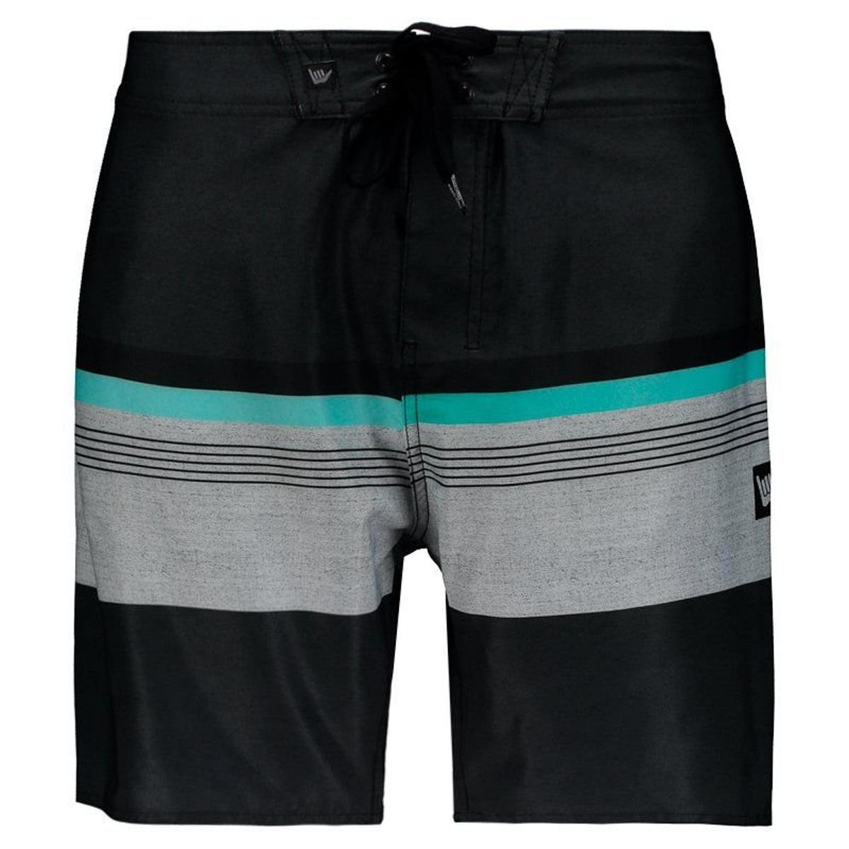 Bermuda Hang Loose Hue Masculina - Preto - Compre Agora  76f54be15e3be