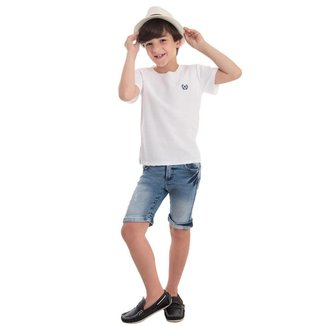 Bermuda Infantil Jeans MRX Masculina