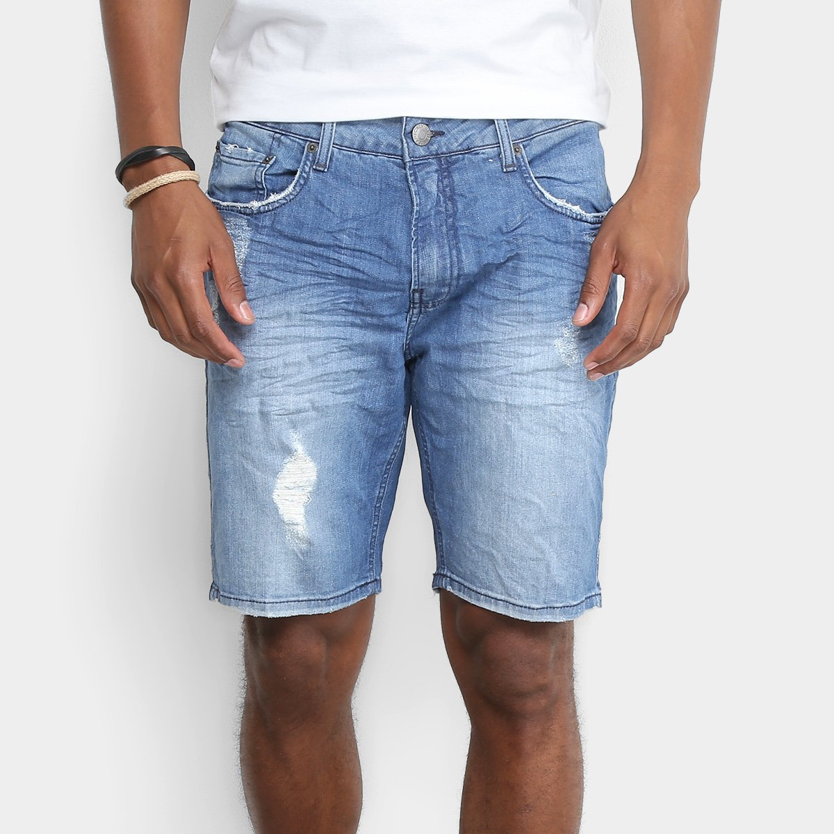 539f77421f6ec Bermuda Jeans Calvin Klein Five Pockets Masculina - Compre Agora ...