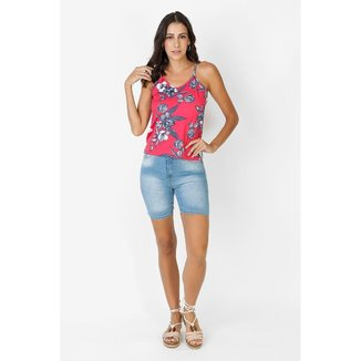 Bermuda Jeans Claro Feminina