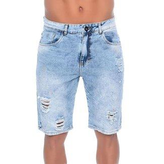 Bermuda Jeans Com Respingos Emporio Alex Masculina
