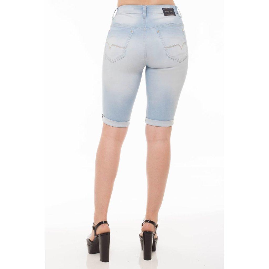 Eventual Mid Bermuda Azul Bermuda Rise Plus Eventual Middle Jeans Mid Jeans Feminina qXawcpnd4p