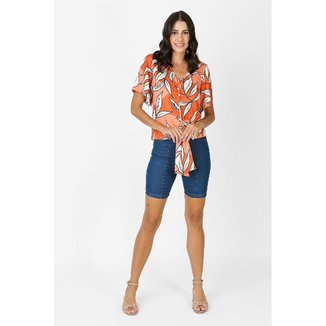 Bermuda Jeans Feminina Friso