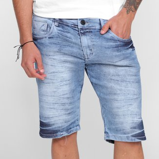 Bermuda Jeans Grifle Básica Masculina1