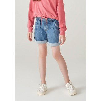 Bermuda Jeans Infantil Feminino