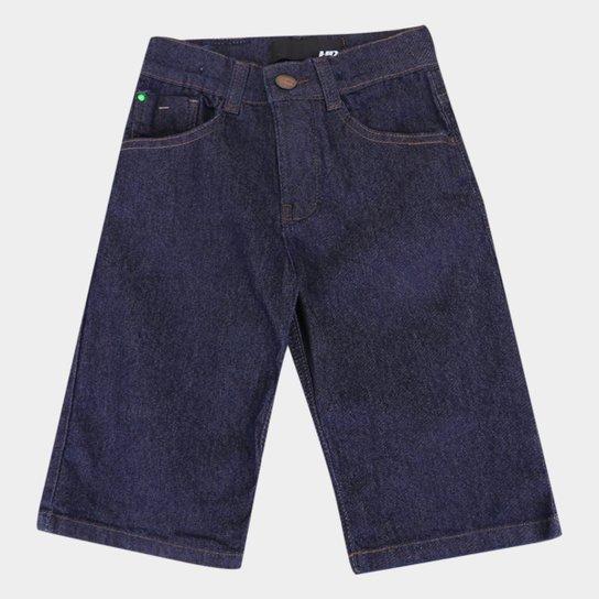 Bermuda Jeans Infantil HD Lisa Masculina - Azul