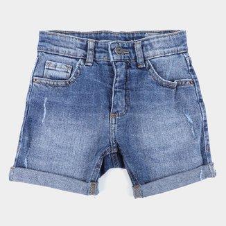 Bermuda Jeans Infantil Hering Casual Feminina