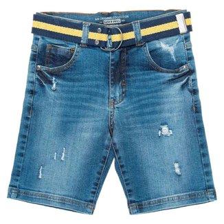 Bermuda Jeans Infantil Mania Masculina