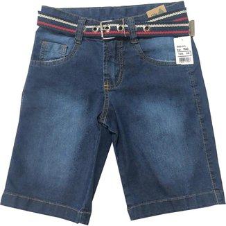 Bermuda Jeans Infantil Oliver Com Cinto Masculina