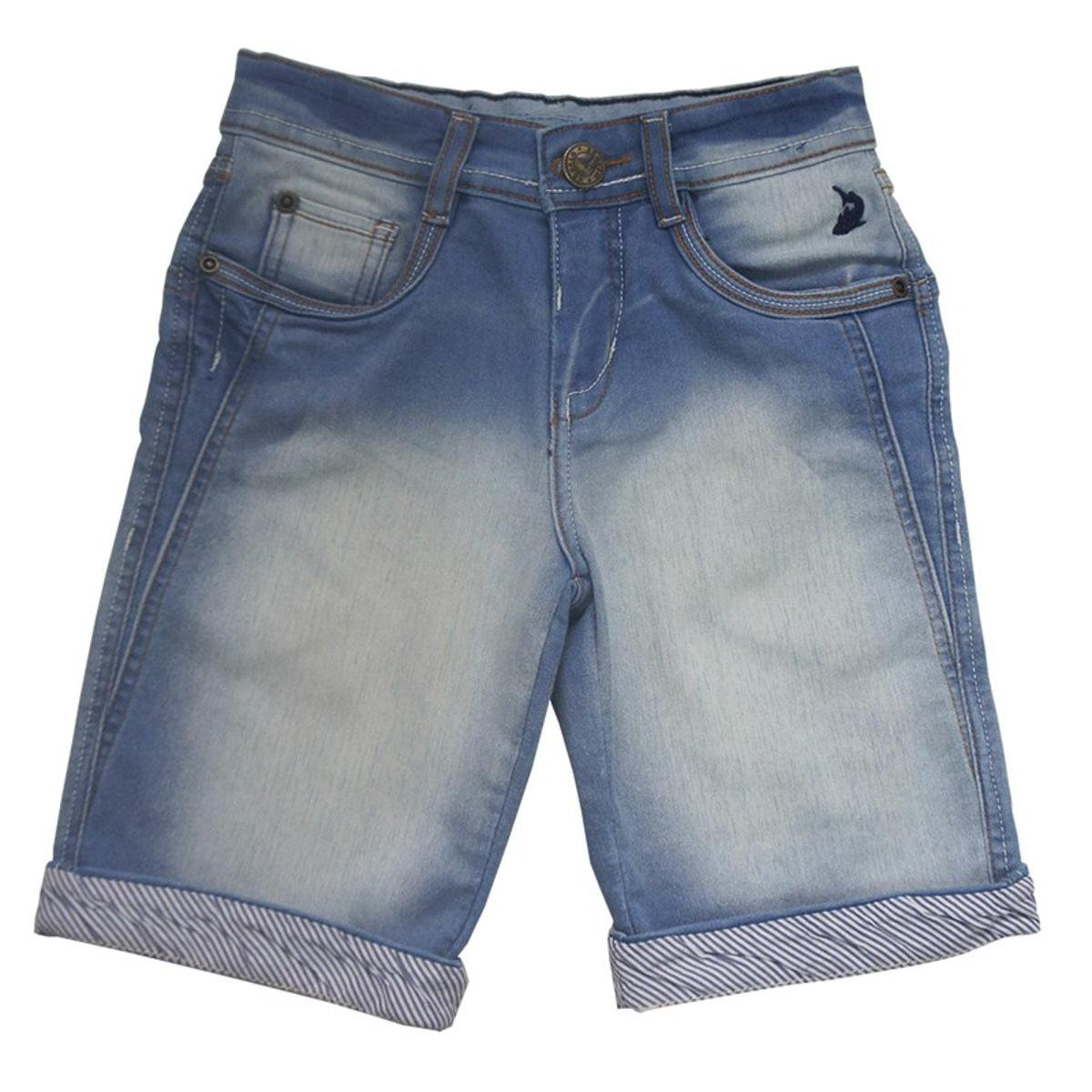 b497a0b2d Bermuda Jeans Infantil Squalo Masculino Azul Compre Agora Netshoes