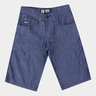 Bermuda Jeans Juvenil Fatal Básica Masculina