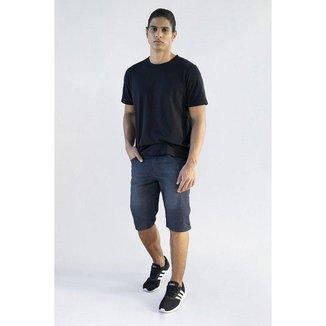 Bermuda Jeans Masculina Tradicional Basica Aruba A20 Tamanho 48, cor preta