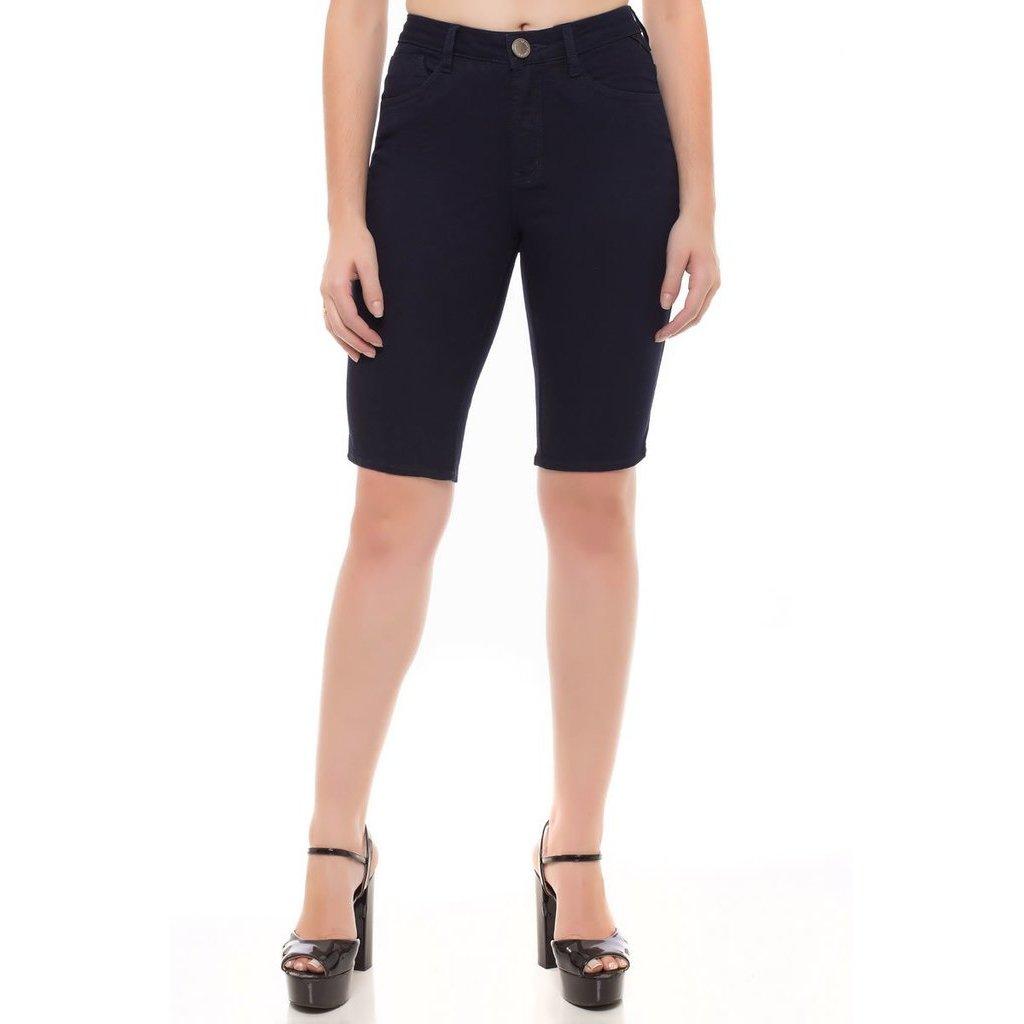 Denúncia Jeans Bermuda Bermuda Middle Azul Feminina Jeans Mid Plus Rise R0RSFqxw