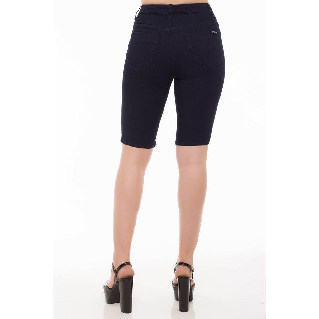 Bermuda Rise Jeans Feminina Plus Mid Bermuda Denúncia Azul Middle Jeans Txa55Z