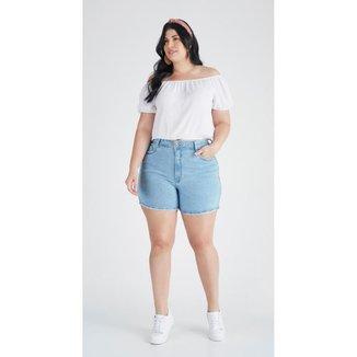 Bermuda jeans zait plus size mom beatriz