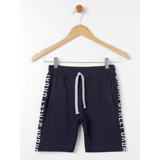 Bermuda Juvenil Para Menino - Azul Marinho