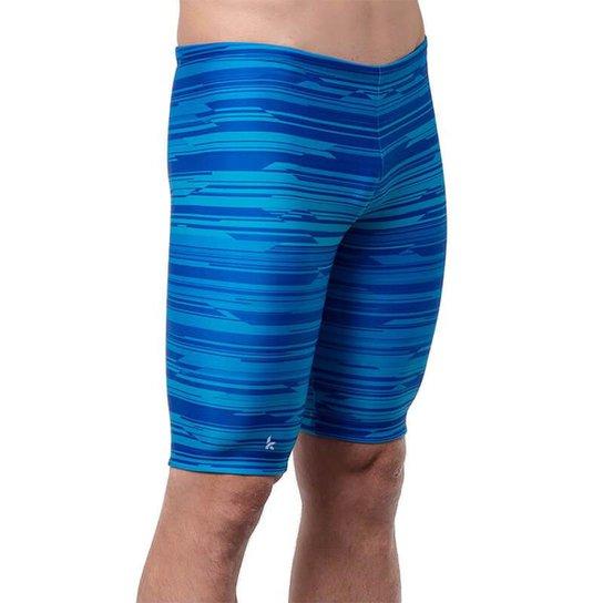 Bermuda Kauna Swim Natação Atlantic  Masculina - Azul Escuro