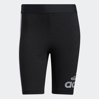 Bermuda Legging Adidas Estampada - Preto - G