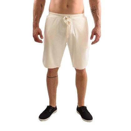 Bermuda masculina de moletom Raram off white