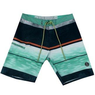 Bermuda Masculina Detalhe Listras Fatal Surf Verde/Marinho