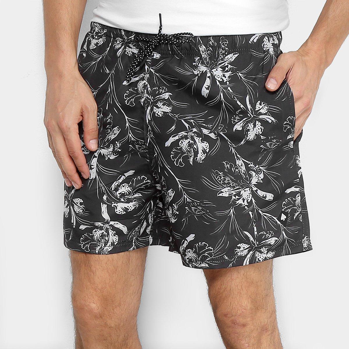 Bermuda MCD Sport Wild Flowers Masculina - Preto - Compre Agora ... db536dd7dc7