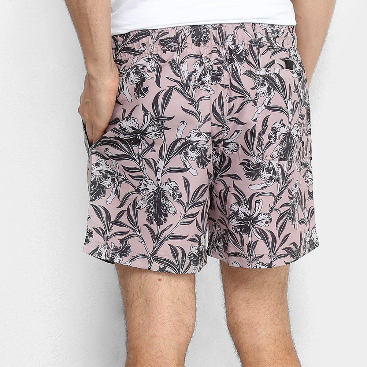 Bermuda MCD Sport Wild Flowers Masculina - Rosê - Compre Agora ... 95ded2aaf65