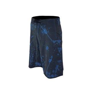 Bermuda Mockup Preto com Azul de elastano com cadarço