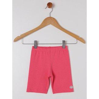 Bermuda Molecotton Infantil Para Menina - Coral