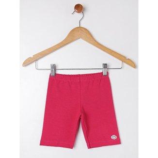 Bermuda Molecotton Infantil Para Menina - Pink