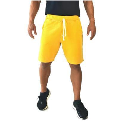 Bermuda Moletom Brohood Amarelo Masculino