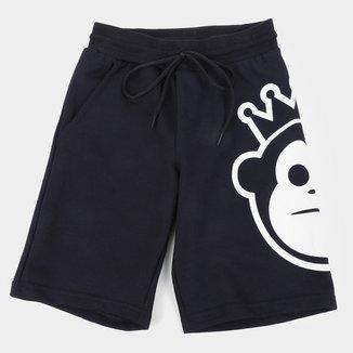Bermuda Moletom Juvenil Kings Monkey Masculina