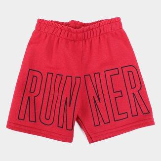 Bermuda Moletom Juvenil Kyly Runner Masculina