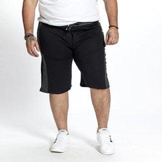Bermuda Moletom Masculina Plus Size Bolsos